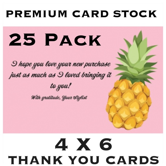 Other - 25 4X6 Pineapple Thank You Cards PRICE IS FIRM